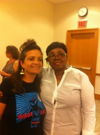 etta cetera and Ms. Lillie Branch- Kennedy celebrating 10 years of prison justice solidarity & frienship!